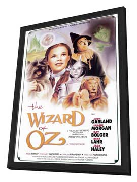 The Wizard of Oz - 11 x 17 Movie Poster - Style H - in Deluxe Wood Frame