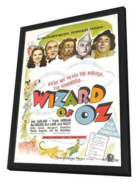 The Wizard of Oz - 11 x 17 Movie Poster - UK Style A - in Deluxe Wood Frame