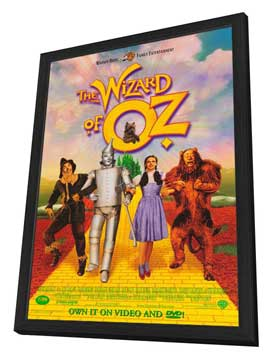 The Wizard of Oz - 27 x 40 Movie Poster - Style A - in Deluxe Wood Frame