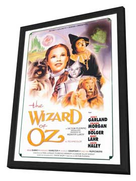 The Wizard of Oz - 27 x 40 Movie Poster - Style B - in Deluxe Wood Frame