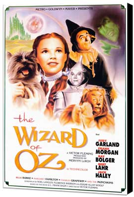 The Wizard of Oz - 27 x 40 Movie Poster - Style B - Museum Wrapped Canvas