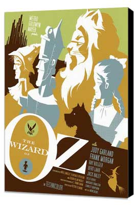 The Wizard of Oz - 27 x 40 Movie Poster - Style J - Museum Wrapped Canvas