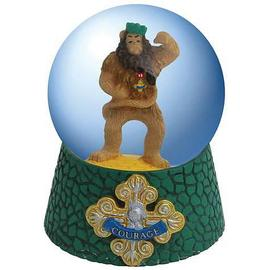 The Wizard of Oz - Cowardly Lion Courage Badge Water Globe