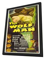 The Wolf Man - 14 x 36 Movie Poster - Insert Style A - in Deluxe Wood Frame