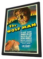 The Wolf Man - 11 x 17 Movie Poster - Style H - in Deluxe Wood Frame