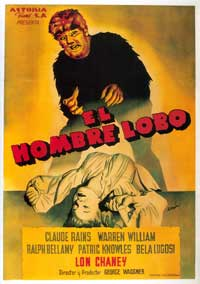 The Wolf Man - 43 x 62 Movie Poster - Spanish Style A
