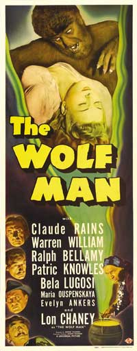 The Wolf Man - 14 x 36 Movie Poster - Insert Style A