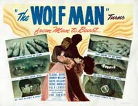 The Wolf Man - 11 x 17 Movie Poster - Style F