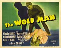 The Wolf Man - 11 x 17 Movie Poster - Style G