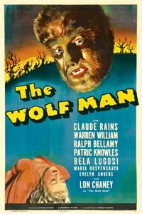 The Wolf Man - 27 x 40 Movie Poster - Style E