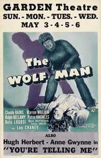 The Wolf Man - 27 x 40 Movie Poster - Style F