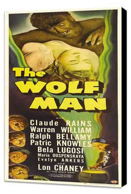 The Wolf Man - 14 x 36 Movie Poster - Insert Style A - Museum Wrapped Canvas
