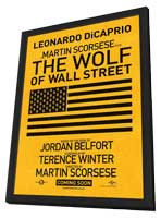 The Wolf of Wall Street - 27 x 40 Movie Poster - Style C - in Deluxe Wood Frame