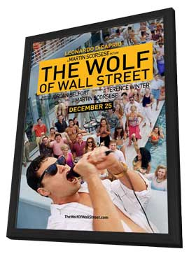 The Wolf of Wall Street - 11 x 17 Movie Poster - Style A - in Deluxe Wood Frame