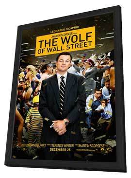 The Wolf of Wall Street - 11 x 17 Movie Poster - Style B - in Deluxe Wood Frame