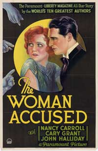The Woman Accused - 27 x 40 Movie Poster - Style A