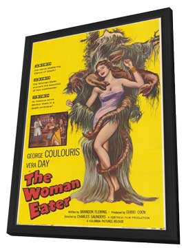 The Woman Eater - 11 x 17 Movie Poster - Style A - in Deluxe Wood Frame