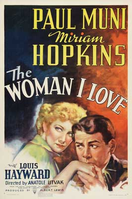The Woman I Love - 27 x 40 Movie Poster - Style A