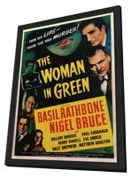 The Woman in Green - 11 x 17 Movie Poster - Style A - in Deluxe Wood Frame