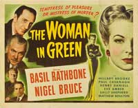 The Woman in Green - 22 x 28 Movie Poster - Half Sheet Style A