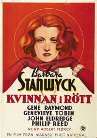 The Woman in Red - 27 x 40 Movie Poster - Swedish Style A