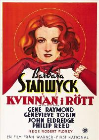 The Woman in Red - 43 x 62 Movie Poster - Swedish Style A