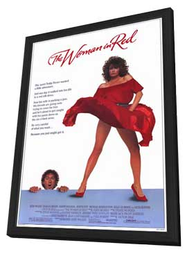 The Woman in Red - 11 x 17 Movie Poster - Style A - in Deluxe Wood Frame