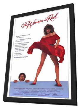 The Woman in Red - 27 x 40 Movie Poster - Style A - in Deluxe Wood Frame