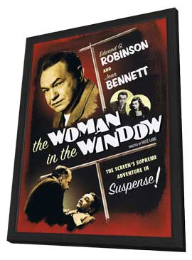 The Woman in the Window - 11 x 17 Movie Poster - Style A - in Deluxe Wood Frame
