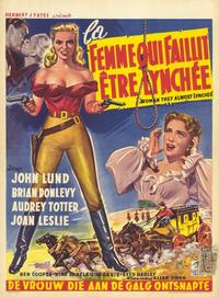 The Woman They Almost Lynched - 11 x 17 Movie Poster - Belgian Style A