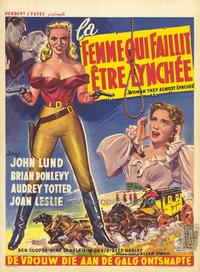 The Woman They Almost Lynched - 27 x 40 Movie Poster - Belgian Style A