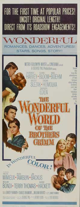 The Wonderful World of the Brothers Grimm - 14 x 36 Movie Poster - Insert Style A