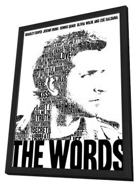 The Words - 27 x 40 Movie Poster - Style A - in Deluxe Wood Frame