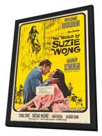 The World of Suzie Wong - 27 x 40 Movie Poster - Style A - in Deluxe Wood Frame