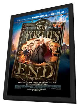 The World's End - 11 x 17 Movie Poster - Style A - in Deluxe Wood Frame
