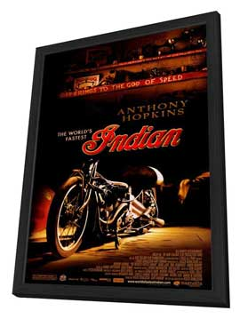 The World's Fastest Indian - 27 x 40 Movie Poster - Style A - in Deluxe Wood Frame
