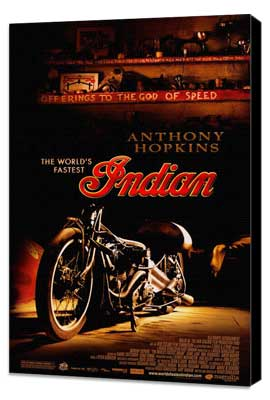 The World's Fastest Indian - 27 x 40 Movie Poster - Style A - Museum Wrapped Canvas