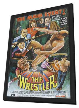 The Wrestler - 11 x 17 Movie Poster - Style A - in Deluxe Wood Frame
