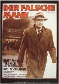 The Wrong Man - 11 x 17 Movie Poster - German Style A