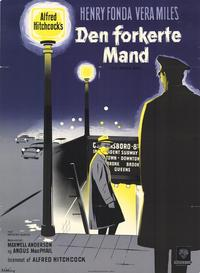 The Wrong Man - 11 x 17 Movie Poster - German Style B