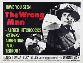 The Wrong Man - 30 x 40 Movie Poster UK - Style A