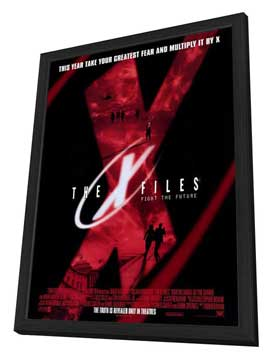 The X-Files - 27 x 40 Movie Poster - Style D - in Deluxe Wood Frame