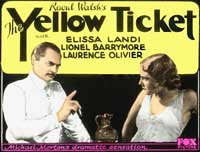 The Yellow Ticket - 11 x 17 Movie Poster - Style B