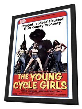 The Young Cycle Girls - 11 x 17 Movie Poster - Style A - in Deluxe Wood Frame