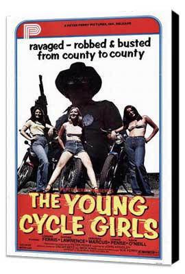 The Young Cycle Girls - 11 x 17 Movie Poster - Style A - Museum Wrapped Canvas