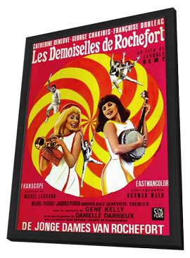 Young Girls of Rochefort, The - 11 x 17 Movie Poster - French Style A - in Deluxe Wood Frame
