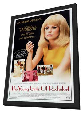 Young Girls of Rochefort, The - 27 x 40 Movie Poster - Style A - in Deluxe Wood Frame