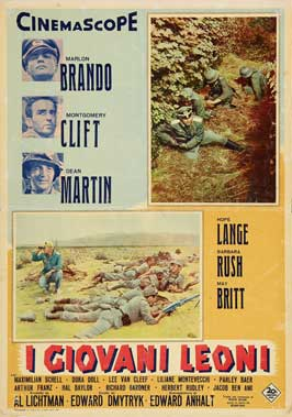 The Young Lions - 27 x 40 Movie Poster - Italian Style A