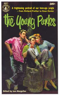 The Young Punks - 11 x 17 Retro Book Cover Poster