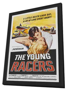 The Young Racers - 11 x 17 Movie Poster - Style A - in Deluxe Wood Frame